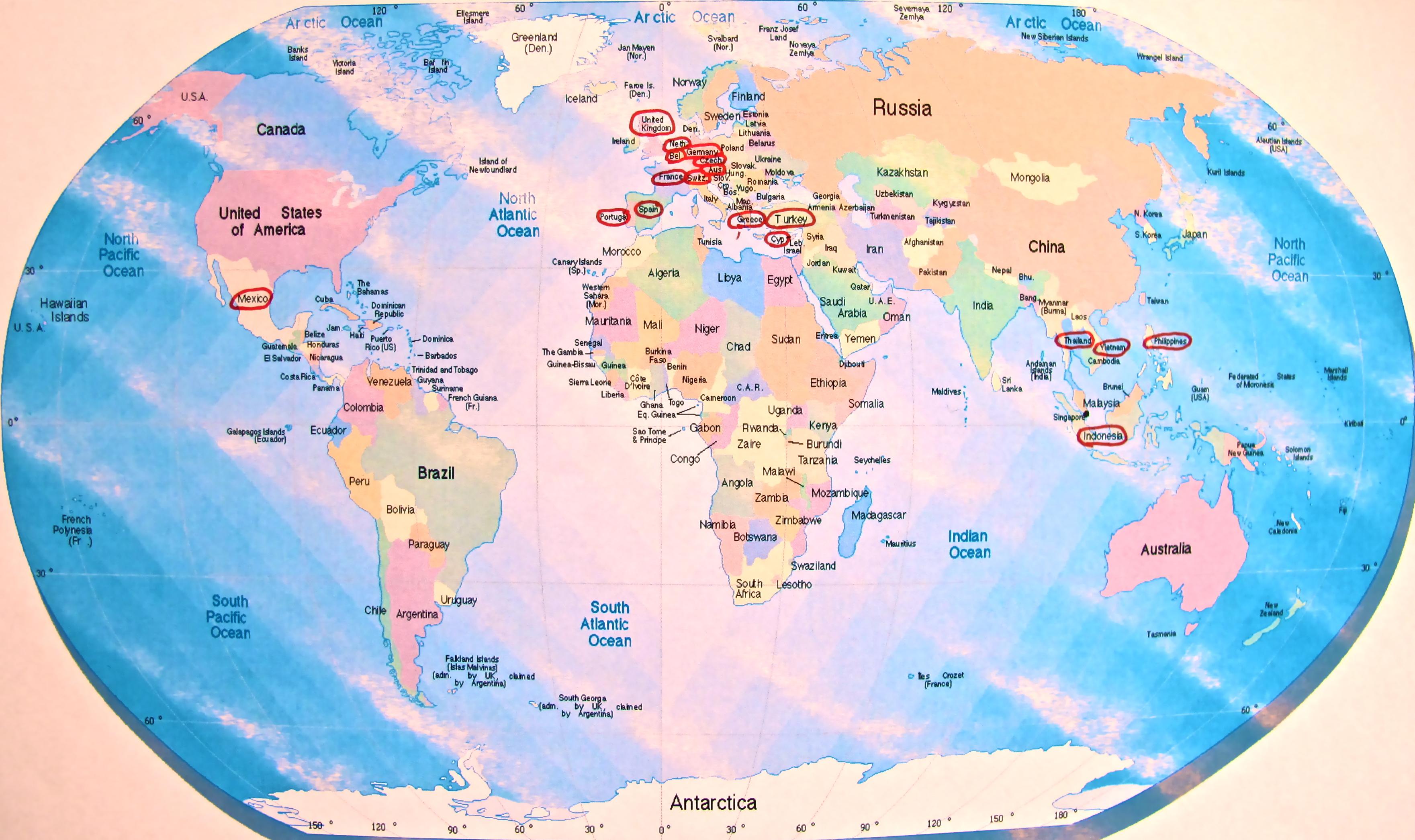 Erstaunlich weltkarte mit l ndernamen fotos erindzain for Weltkarte mit fotos
